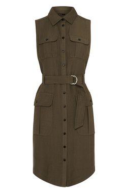 Buy Karen Millen Jacquard Safari Shirt Dress, Khaki from our Jun 15 - Beach Safari range at John Lewis & Partners. Trendy Dresses, Nice Dresses, Casual Dresses, Casual Outfits, Safari Dress, Safari Shirt, Vestidos Safari, Shirts & Tops, Khaki Shirt Dress