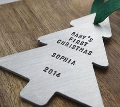 Babys First Christmas Ornament, Holiday Decor Ornament, Personalized Baby Ornament, Custom Baby& First Christmas, Unique Christmas Decor Baby First Christmas Ornament, Baby Ornaments, Babies First Christmas, Christmas Ornaments, Christmas Tree, Unique Christmas Decorations, Holiday Decor, Cool Cases, Tree Shapes