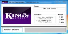 King's Jewelry Gift Card Generator Online. Cheats for King's Jewelry Gift Card Generator.