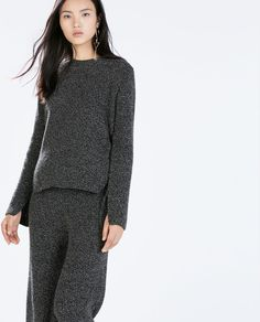 Zara Sweater with Rounded Hem Fashion Seasons, Zara United States, Shades Of Grey, Who What Wear, Pulls, Athleisure, Peplum Dress, Knitwear, That Look
