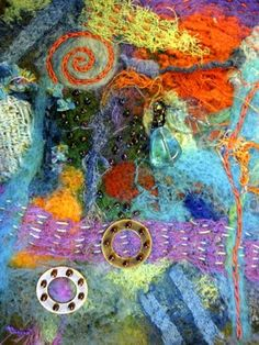 Ro Bruhn - felting and stitching