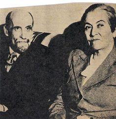 Gabriela Mistral y Juan Raón Jiménez, el autor español. Se admiraban mutuamente.