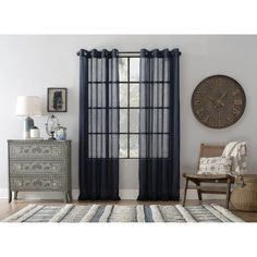 Shop for Archaeo Slub Textured Linen Blend Grommet Top Curtain. Get free delivery On EVERYTHING* Overstock - Your Online Home Decor Outlet Store! Cool Curtains, Beautiful Curtains, Hanging Curtains, Curtain Fabric, Curtain Rods, Panel Curtains, Curtain Styles, Sheer Fabrics, Home Decor Outlet