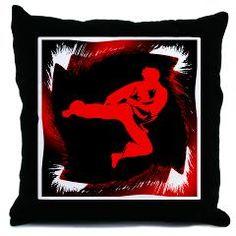 Karate Throw Pillow > Karate Man Sportswear > CJ Martial Arts