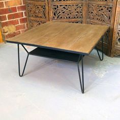 d8b139bed2929 Iron and Wood Coffee Table - Nadeau Chicago