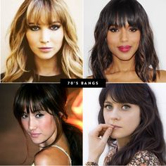 haircut inspiration, haircuts to suit your face shape, oval face, round face, hair types, square shaped face, heart shaped face, choppy bobs, blunt cut, wavy hair, straight hair, pixie cut, 70s bangs, side bangs, sideswept bangs, the right haircut for your hair type