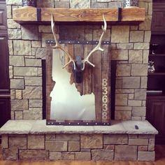 Our original elk head steel casting with optional personalized mounting platform by The Birch & Bennett Co