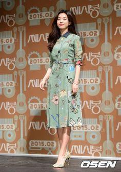 쎄시봉 제작보고회 한효주 원피스 패션 - 구찌 : 네이버 블로그