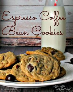 Espresso Coffee Bean Cookies | Life, Love, and Good Food @kingarthurflour #coffeebeans