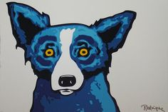 Rodrigue _ Blue Dog This is one of my favorites becuz the colors are less primary and bright.  Obviously an older painting.