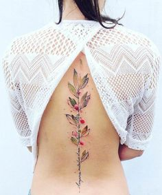 watercolor back tattoo ideas