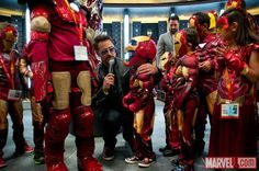 Robert Downey, Jr. at the Kids Costume Event at the Marvel San Diego Comic-Con stage!