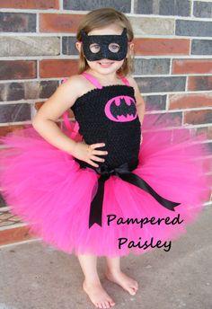 Superhero  tutu dress - bat costume Halloween - Birthday costume size newborn to adult- costume by PamperedPaisley on Etsy https://www.etsy.com/listing/237804373/superhero-tutu-dress-bat-costume