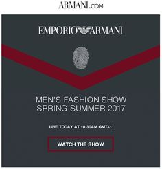 Armani email newsletter
