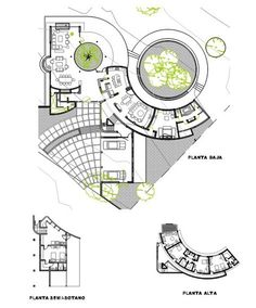 Home Design Drawings Casa URO - Picture gallery - Plan Concept Architecture, Landscape Architecture Design, Organic Architecture, Public Library Design, Architectural Floor Plans, Plan Design, Planer, House Design, How To Plan