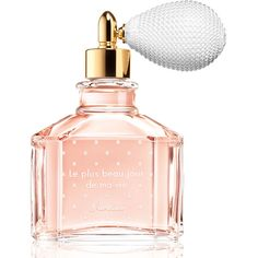 Guerlain Les Plus Beau Jour de ma Vie Eau de Parfum (900 BRL) ❤ liked on Polyvore featuring beauty products, fragrance, perfume, beauty, makeup, fillers, backgrounds, blossom perfume, guerlain fragrance and flower perfume