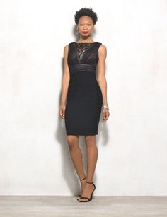 Hello, gorgeous! This stunning LBD features a hint of lace and chiffon for an instant party-ready look. All you need is a red lip, your go-to heels and you're set! Imported.