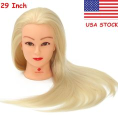 29 Hair Salon Hairdressing Training Practice Model Mannequin Doll Head  Clamp