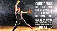 Confidence doesn't come out of nowhere it's a result of something hours and days and weeks and years of constant work and dedication.