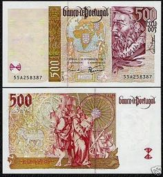 500 Escudos 1997 O antigo dinheiro portugues antes do Euro (Old portuguese many before the Euro)