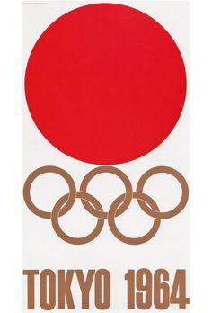 Poster design for the last Tokyo Olympics [1964], design by Yusaku Kamekura.