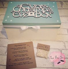 Children's Wooden Personalised Christmas Eve Box & by twoforjoi