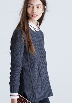 Classic Cable Pullover Sweater :   Madewell