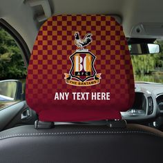 Available in many eye-catching BCFC designs our car seat head rest covers are an amazing addition to your car or van to show your club support.  With double sided print, that can be seen from the front and back, our head rest covers fit most standard size head rests with an elasticated bottom to ensure a nice snug fit.  Made from a beautiful stretch spandex fabric that look vibrant and effective in any car, the perfect gift or stocking filler for Bradford City fans. Bradford City, Car Head, Stocking Fillers, Spandex Fabric, Snug Fit, Fans, Rest, Vibrant, Club
