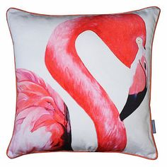 I love this flamingo cushion. There's just something so regal about them and it would go with my black, silver and pink colour scheme. #LessOrdinaryBedroom #NotOnTheHighstreet