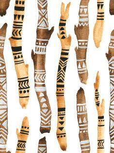Painted Driftwood, Driftwood Art, Nature Crafts, Home Crafts, African Tribal Patterns, Spirit Sticks, Hawaiian Party Decorations, Driftwood Projects, Stick Art