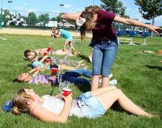 Water toss summer game