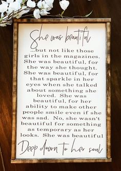 Farmhouse Wall Decor, Farmhouse Signs, Urban Farmhouse, Country Farmhouse, Frame Wall Decor, She Was Beautiful, Stain Colors, Home Signs, Sign Quotes