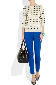 Polka dots and blue pants