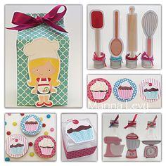 Kit Festa 140 Itens - Cupcake