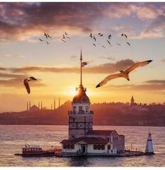 Lighthouse in Istanbul, Turkey 🇹🇷 - Visit Istanbul, Istanbul Travel, Places To Travel, Places To See, Wonderful Places, Beautiful Places, Antalya, Lake Mountain, Turkey Travel