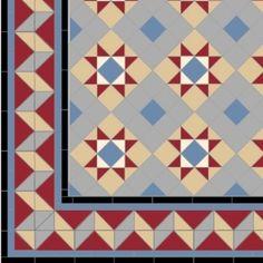 original tile company, victorian floor tiles  In black white & grey