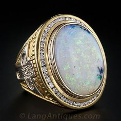 Collosal Gent's Opal Ring - 30-1-983 - Lang Antiques