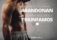 Cuando los demás abandonan nosotros seguimos y triunfamos. #fitness #motivation…
