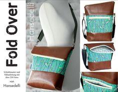 Nähanleitungen Taschen - Ebook FoldOver Tasche, für Anfänger geeignet - ein Designerstück von Hansedelli bei DaWanda