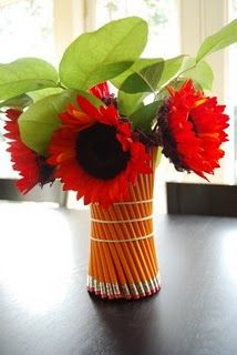 Pencil vase for graduation party
