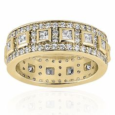 This Dazzling Diamond Eternity Wedding Band Is Hand Set With Bezel Princess Cut & Pave Round Cut Diamonds OF G/H Color And VS Clarity. Available In Your Choice Of & White, Yellow Or Rose Gold, Platinum and Palladium Wedding Band Sets, Diamond Wedding Bands, Round Cut Diamond, Round Diamonds, Ring My Bell, Or Rose, Rose Gold, Right Hand Rings, Anniversary Bands