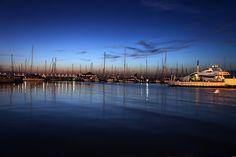 Rimini, barche in darsena