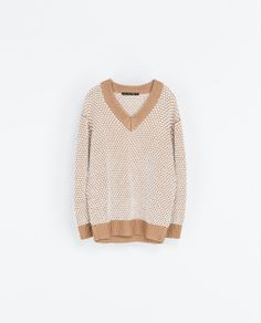TWO-TONE OVERSIZE SWEATER from Zara
