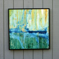 Abstract Painting on Wood Reclaimed Wood Sculpture