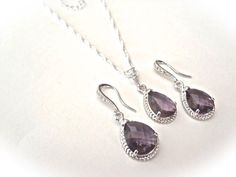 Hey, I found this really awesome Etsy listing at https://www.etsy.com/listing/104825127/amethyst-necklace-and-earring-set