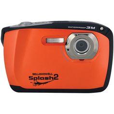 Bell+howell 16.0 Megapixel Wp16 Splash2 Hd Waterproof Digital Camera (orange)