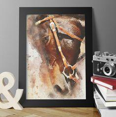 Horse Print, Horse Poster, Animal print, Watercolor, Equestrian Art, Instant decor, Wall art, Download, Animal Art, Digital print, Trending