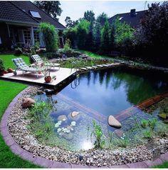 Swimming Pools Backyard, Ponds Backyard, Swimming Pool Designs, Backyard Landscaping, Outdoor Ponds, Lap Pools, Indoor Pools, Pool Decks, Natural Swimming Ponds