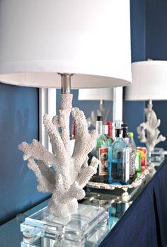 Bar tray coral lamp