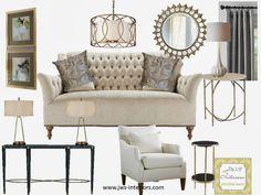 Elegant Living Room Design Board